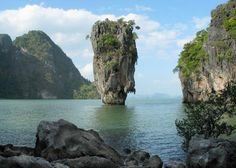 """James Bond Island, known originally and locally as Ko Tapu or Nail Island, found fame through the 1974 Bond film """"The Man with the Golden Gun"""". Description from packages.asiatravel.com. I searched for this on bing.com/images"""