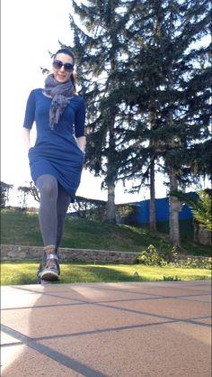 Vestido azul de ecoology .