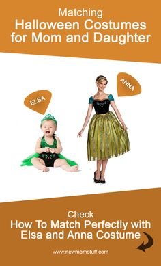 Looking for matching Halloween costumes for mom and baby daughter. Here's more than a dozen idea to help you out. Matching Halloween Costumes, Mom Costumes, Anna Costume, Family Halloween Costumes, Pregnancy Stages, Pregnancy Tips, Newborn Schedule, Baby Care Tips, Baby Development