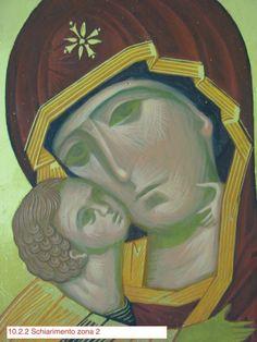 Madonna di Vladimir (scuola Bizantina) Madonna, Byzantine Icons, Orthodox Icons, Painting Techniques, Face, Fictional Characters, Belgrade, Eyes, Sacred Art