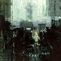 Outside the Cathedral - Painting by Jeremy Mann #art