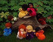 Bambole Waldorf piccole bambole Rootchildren in di Waldorfdollshop