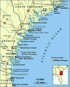 sc beaches | Map of South Carolina Beaches   South Carolina Coast