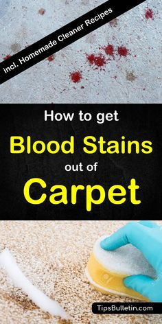 How to get blood stains out of carpet. with detailed homemade carpet cleaner recipes to make your own diy stain remover using hydrogen peroxid, ammonia, vinegar or baking soda. ideal to remove even dried and stubborn blood stains.#howtoremove #blood #stains #carpetcleaning