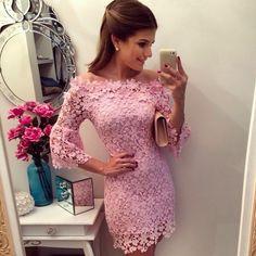 Encontrar Más Vestidos Información acerca de 2016 a estrenar Pink Sexy mujeres del verano lindo ocasional de la gasa vestido encaje Mini vestido / ropa barata china, alta calidad visten de acero, China la limpieza de ropa Proveedores, barato reparación de ropa de pseewi en Aliexpress.com