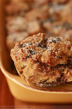 Dulce De Leche, Cinnamon, and Chocolate Bread Pudding