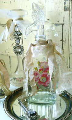 Romantic Rose Embellished  Shabby Chic Decorative by shabbychatue~Great gift Idea! Low shipping!