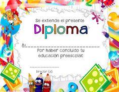 7 Diplomas para culminación de estudios preescolares ~ Educación Preescolar