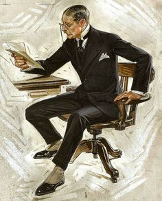 Suits and Tailoring...For no one knew how to draw proper menswear better than Joseph Christian Leyendecker...1920s