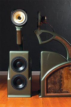 Randall K Bespoke Audio Art - very interesting project with Dynaudio woofers and Lowther full-range driver