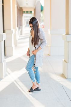 It's still hot as heck here in Houston, but I had to shoot this cardigan(coupon code below)before it sold out. This is the perfect casual fall or fall tra