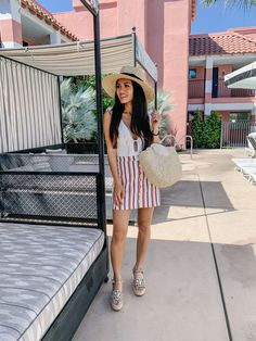 Sands Hotel, Indian Wells, Palm Springs Outfit Posts, My Outfit, Palm Springs Hotels, Sands Hotel, Petite Women, Only Fashion, Petite Fashion, Ruffle Dress, Green And Gold