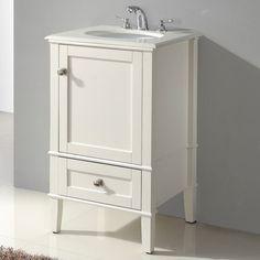 """Simpli Home Chelsea 21"""" Single Bathroom Vanity Set. 439.  Wayfair.  21 width, 19 depth. (other sink was 20 x 18)"""