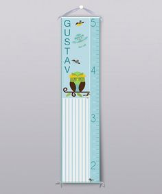 Blue Happy Owl Personalized Growth Chart by Grape Tomato-Zulily