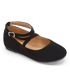 Look what I found on #zulily! Black Brea Double Ankle-Strap Flat #zulilyfinds