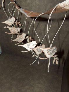 paper bird ornaments
