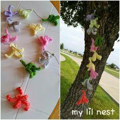 Crocheted beechnut leaves! @ Mariettascreationsandtidbits n/k/a my lil nest♡  Facebook
