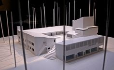 Model : Säynätsalo Town Hall, Finland (1951) | Alvar Aalto