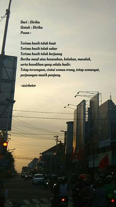 New Quotes Indonesia Motivasi Semangat Ideas Tumblr Quotes, New Quotes, Mood Quotes, Funny Quotes, Life Quotes, Poetry Quotes, Quotes Inspirational, Wisdom Quotes, Reminder Quotes