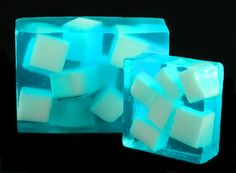 Blue Chunky Soap - Scented in Sea Kelp & Agave.