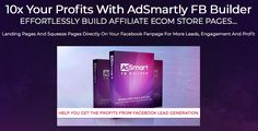Adsmartly OTO Review  Adsmartly Fb Builder By Victory Akpos is best upgrade oto #2 of adsmartly lead generation software with features effortlessly build affiliate ecom store pages, landing pages and squeeze pages directly on your facebook fanpage for more leads, engagement and 10x profit  #adsmartlyoto #emailmarketing #mailinglist #listbuilding #ads #fbads Squeeze Page, Facebook Marketing, Lead Generation, Victorious, Landing, Software, Ads, Engagement, Store