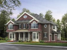Home Plan HOMEPW05323 is a gorgeous 4903 sq ft, 3 story, 5 bedroom, 5 bathroom plan influenced by  Craftsman  style architecture.