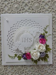 Lose the flowers First Communion Cards, Baptism Cards, Baptism Gifts, Tonic Cards, Pin Card, Shaped Cards, Die Cut Cards, Flower Cards, Cute Cards