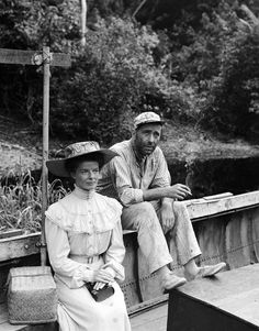 Katharine Hepburn and Humphrey Bogart...Two of my favorite stars in one of my favorite movies- The African Queen