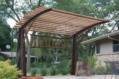 Curved shade structure.