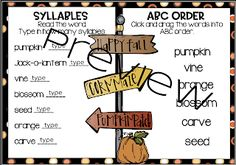 From Seed to Jack-o-lantern...Interactive and Paper Pencil! Poetry Anchor Chart, Anchor Charts, Pumpkin Life Cycle, Nouns And Adjectives, Word Work Centers, Types Of Sentences, Realistic Fiction, Word Work Activities, Vocabulary Cards