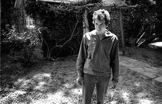 Bob Dylan in yard at home, Woodstock, NY
