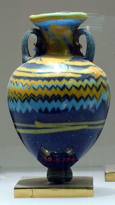 Small vessel (Amphoriskos) Late Period, Dynasty 26–29, 664–332 BC; Glass