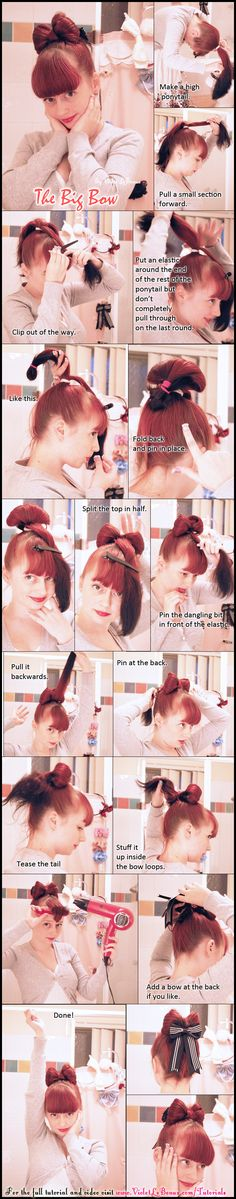 Bow Style Hair Style Tutorial by ~VioletLeBeaux on deviantART