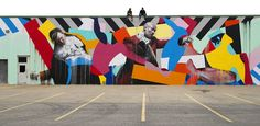 Irish street artist Maser brings his colourful geometric boldness in from the cold at Lazarides exhibition...