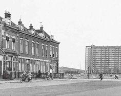 Einde Dordtsestraatweg richting Zuidpleinflat Rotterdam, Louvre, Street View, History, Building, Travel, Past, Nostalgia, Historia