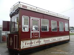 Terrific Tram Style Catering Trailer built by A and  R Willis Catering Trailers