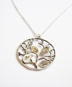 Family Tree Necklace - Personalized necklace with initials by RobertaValle, $13.00