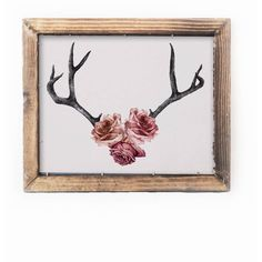 Becci Mary Anne - Floral Antler Print (2,325 MKD) ❤ liked on Polyvore featuring home, home decor, wall art, floral wall art, pink home decor, flower home decor, pink rose wall art and antler home decor