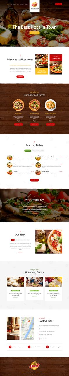 Pizza House is Premium full Responsive Retina WordPress #Restaurant Theme. WooCommerce. If you like this Theme for #pizzeriawebsite visit our handpicked list of best #WordPressPizzaTemplate at: http://www.responsivemiracle.com/best-wordpress-pizza-template-2016/