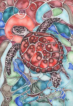 sea-turtle-tamara-phillips.jpg (622×900)