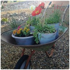 How to age plastic flower pots