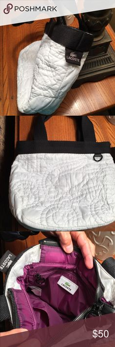 Lacoste nylon quilted handbag. 100% nylon, great condition, double handles with internal pockets Lacoste Bags Totes