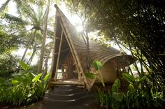 Check out the stunning architecture of Green Village in Bali, Indonesia. Green Village in Bali, Indonesia is an architectural gem - a dream like setting. Architecture Durable, Bamboo Architecture, Sustainable Architecture, Sustainable Design, Architecture Design, Architecture Interiors, Beautiful Architecture, Sustainable Living, Bamboo Building