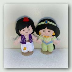 Princesa Jasmine e Aladdin Da Bibiella | Atelier Bibiella | 35E37B - Elo7