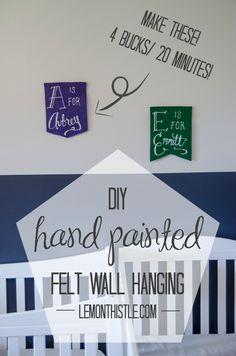DIY Hand-Painted Felt Wall Art