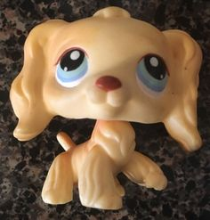 Littlest Pet Shop Yellow Tan Cocker Spaniel w Blue Eyes 91 | eBay