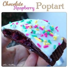 Ripped Recipes - Chocolate Raspberry Poptart - So easy and delicious! Make this with any flavor QuestBar and fruit filling!