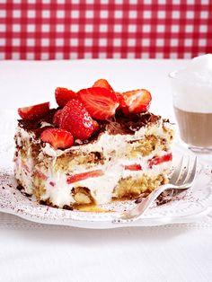 Cantuccini-Tiramisu mit Erdbeeren