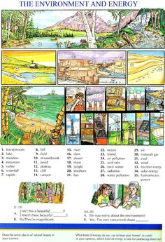 110 - THE ENVIRONMENT AND ENERGY - Pictures dictionary - English Study, explanations, free exercises, speaking, listening, grammar lessons, reading, writing, vocabulary, dictionary and teaching materials