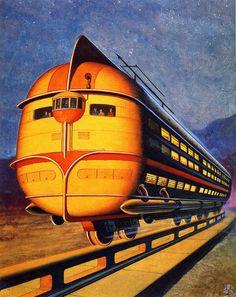 Train, 1943, futuristic vehicle
